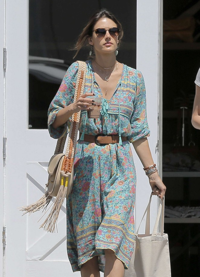 Alessandra Ambrosio at the Brentwood Country Mart -04