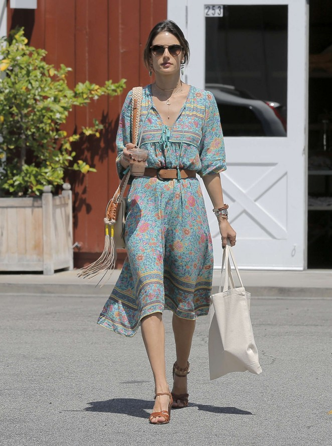 Alessandra Ambrosio at the Brentwood Country Mart -05