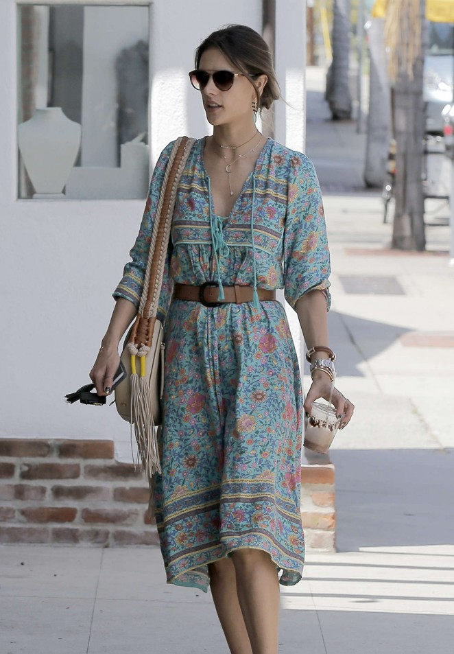 Alessandra Ambrosio at the Brentwood Country Mart -10