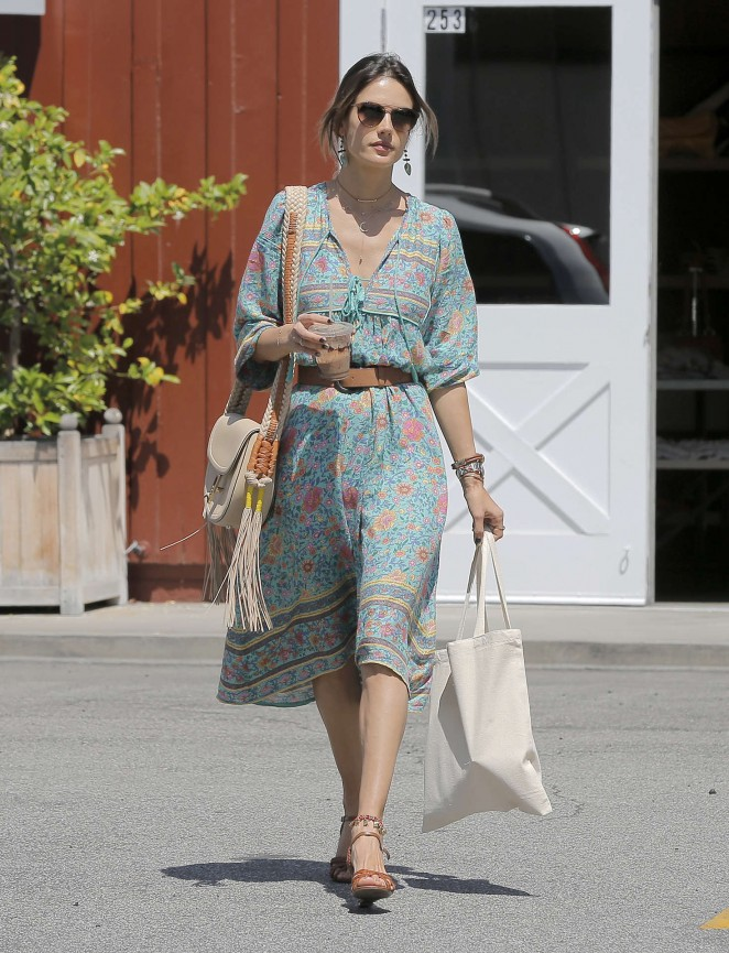 Alessandra Ambrosio at the Brentwood Country Mart -11