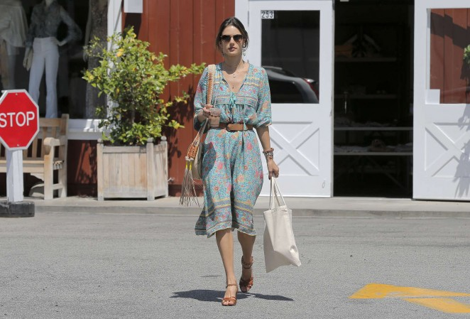 Alessandra Ambrosio at the Brentwood Country Mart -12