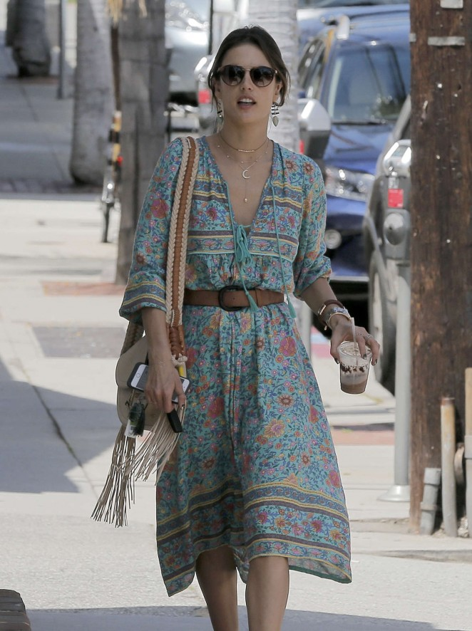 Alessandra Ambrosio at the Brentwood Country Mart -14