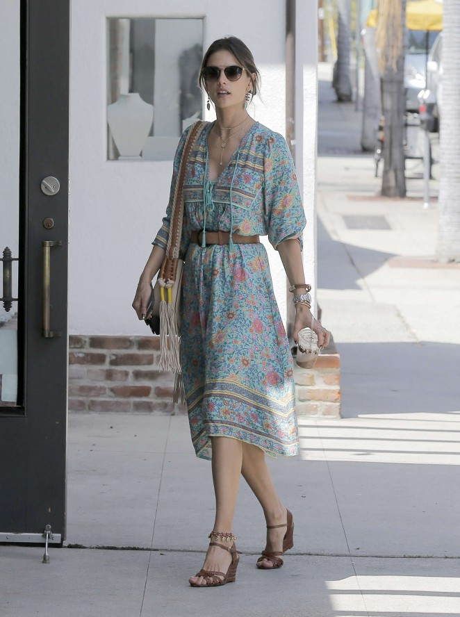 Alessandra Ambrosio at the Brentwood Country Mart -15