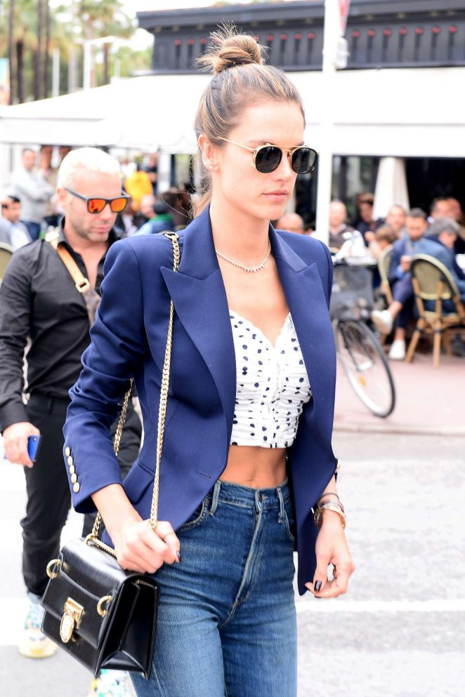 Alessandra Ambrosio at the Croisette in Cannes