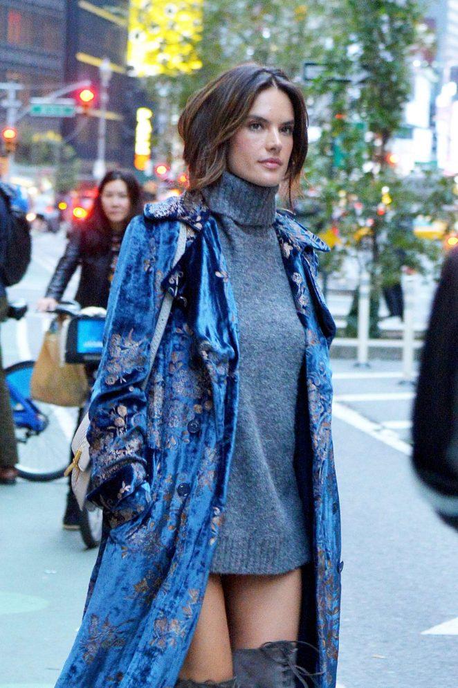Alessandra Ambrosio at the Victoria's Secret office in New York
