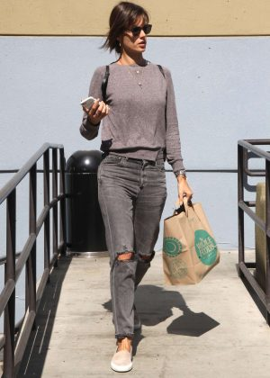 Alessandra Ambrosio at Whole Foods in Santa Monica