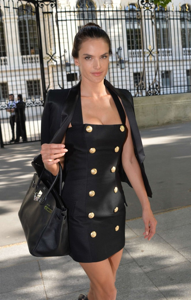 Alessandra Ambrosio - Balmain Fashion Show in Paris
