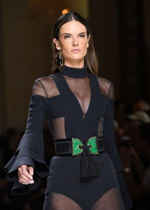 Alessandra Ambrosio - Balmain Runway 2017 Paris Fashion Week in Paris