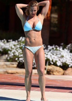 Alessandra Ambrosio - Bikini Candids at a pool in Marbella