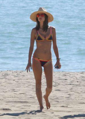 Alessandra Ambrosio - Bikini Candids in California