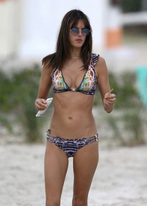 Alessandra Ambrosio - Bikini Candids on the beach in Florianopoli