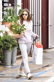 Alessandra Ambrosio - Buying Flowers in Brentwood