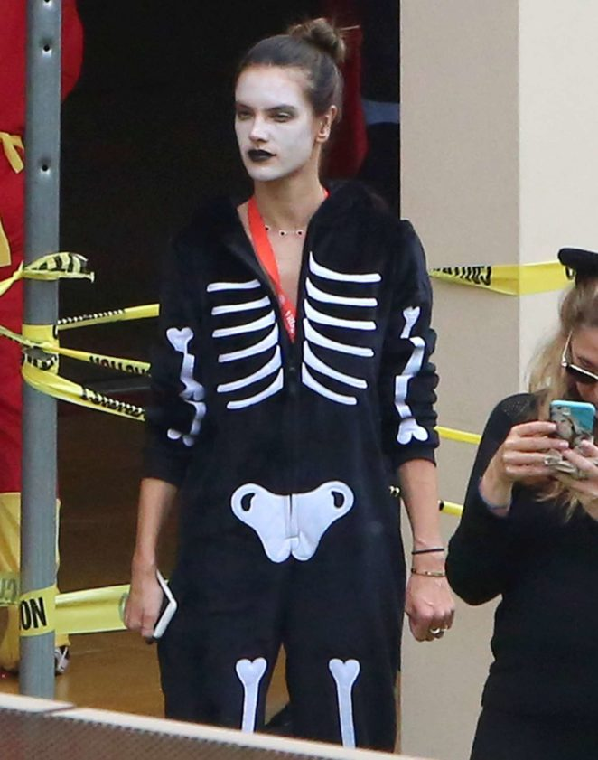 Alessandra Ambrosio - Celebrating Halloween with her kids at school in Brentwood