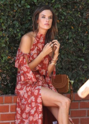 Alessandra Ambrosio Doing A Photoshoot In West Hollywood