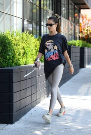 Alessandra Ambrosio - Dons David Bowie tee while out in Santa Monica