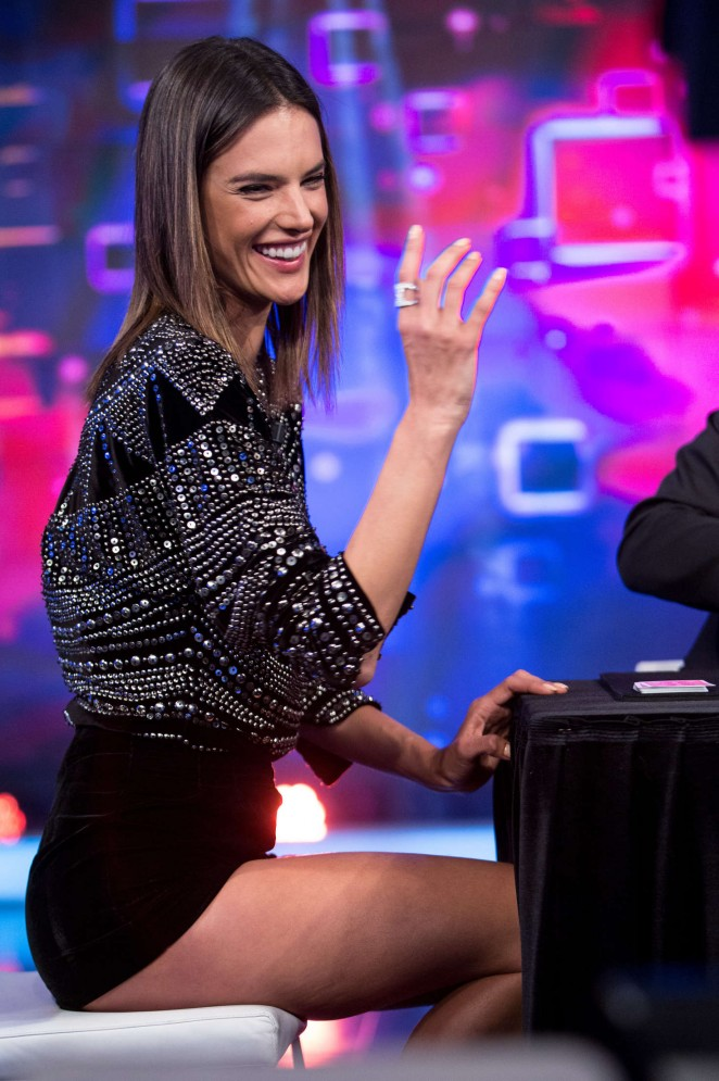 Alessandra Ambrosio - 'El Hormiguero' TV Show in Spain