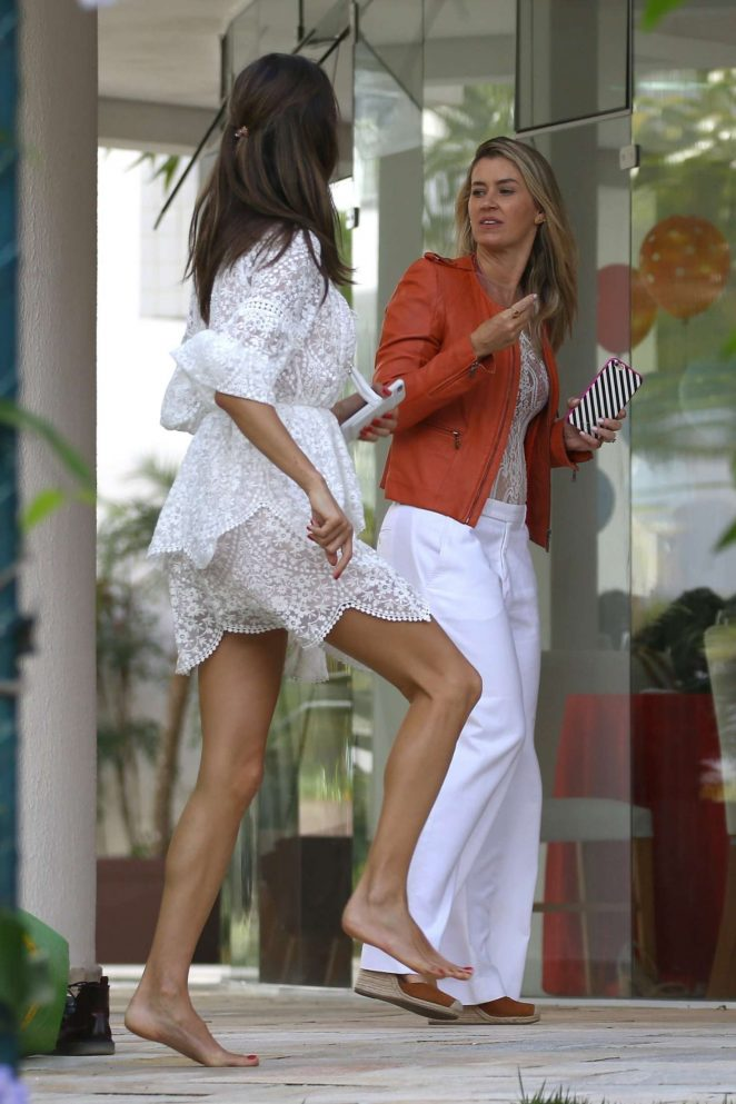Alessandra Ambrosio enjoys her cousin's Disney party in Florianopolis