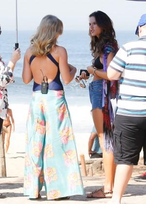 Alessandra Ambrosio in Bikini Top and Shorts -37