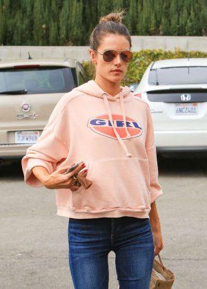 Alessandra Ambrosio - Goes for a Mani-Pedi in LA
