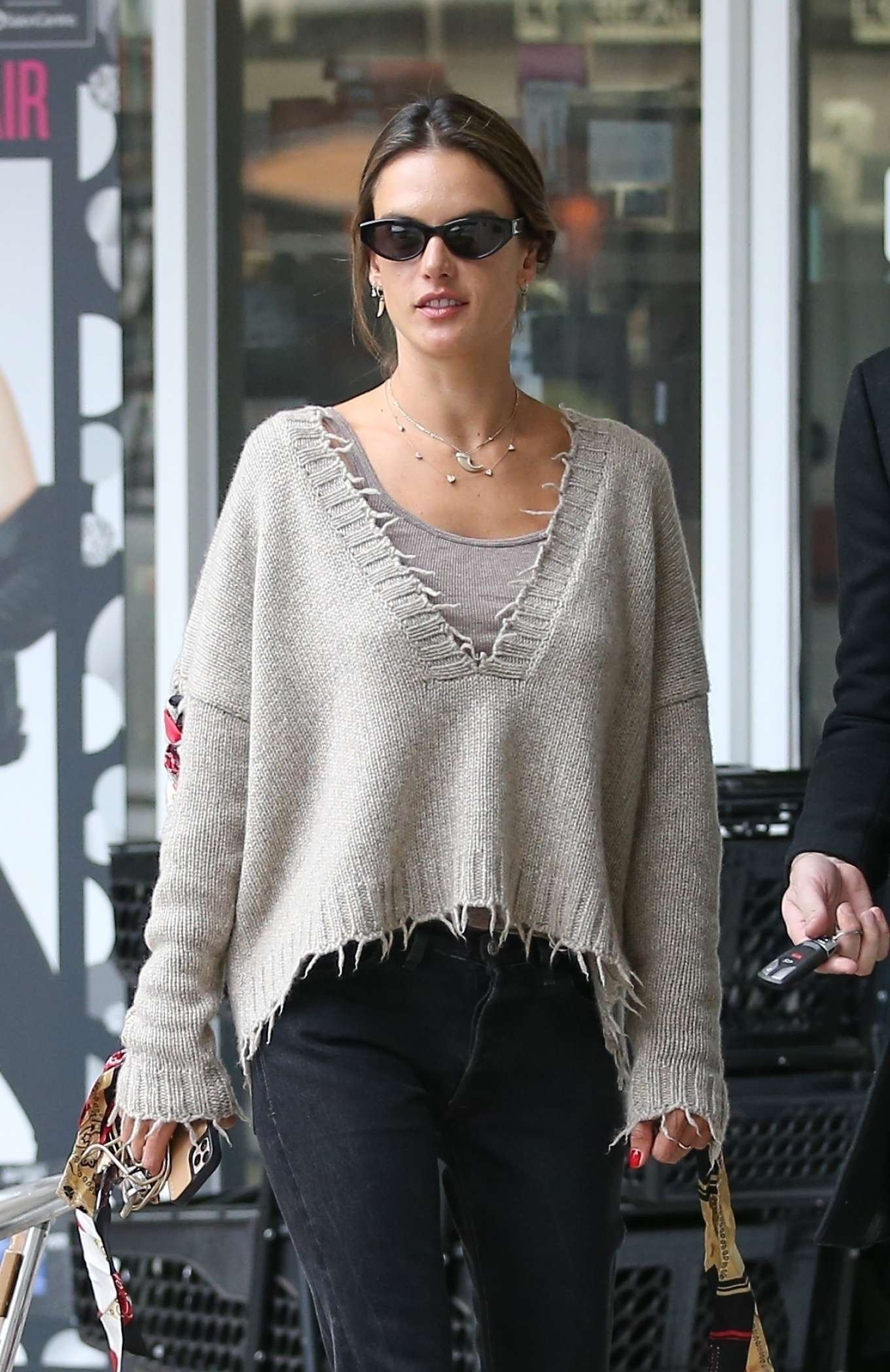 Alessandra Ambrosio - Goes out for sushi in West Hollywood