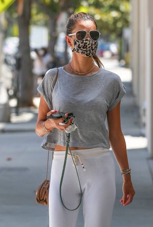 Alessandra Ambrosio - Goes to a nail salon in Santa Monica