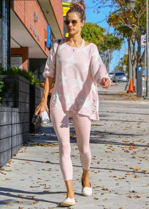 Alessandra Ambrosio - Goes to Pilates class in Los Angeles