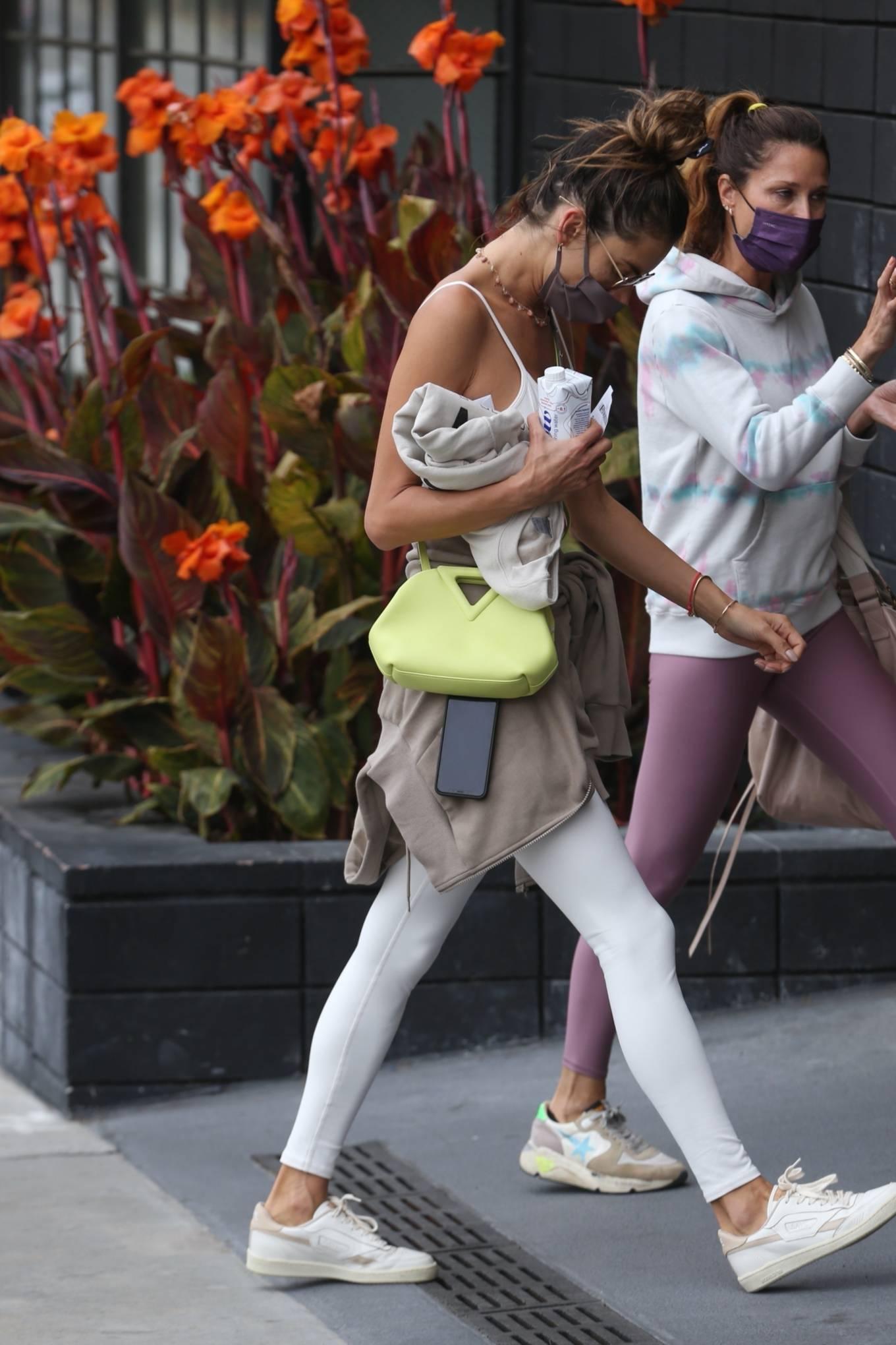 Alessandra Ambrosio 2021 : Alessandra Ambrosio – going to a Pilates class in Santa Monica-01