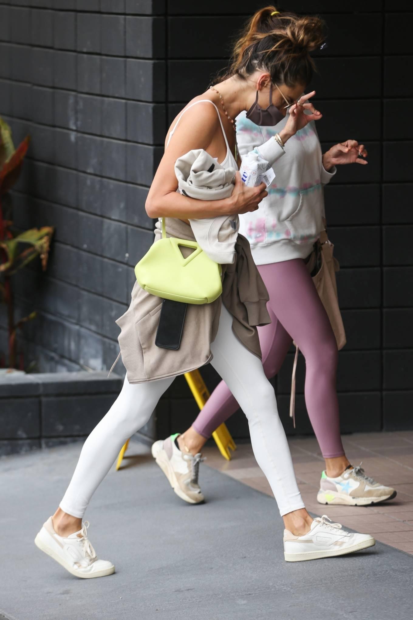 Alessandra Ambrosio 2021 : Alessandra Ambrosio – going to a Pilates class in Santa Monica-07