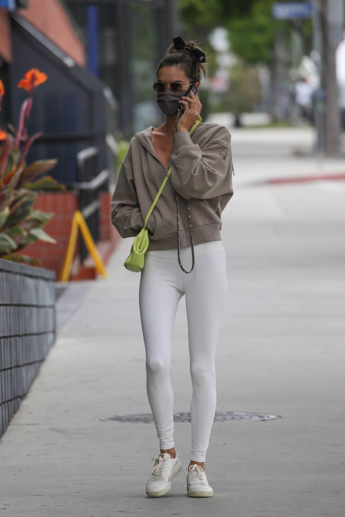 Alessandra Ambrosio 2021 : Alessandra Ambrosio – going to a Pilates class in Santa Monica-09