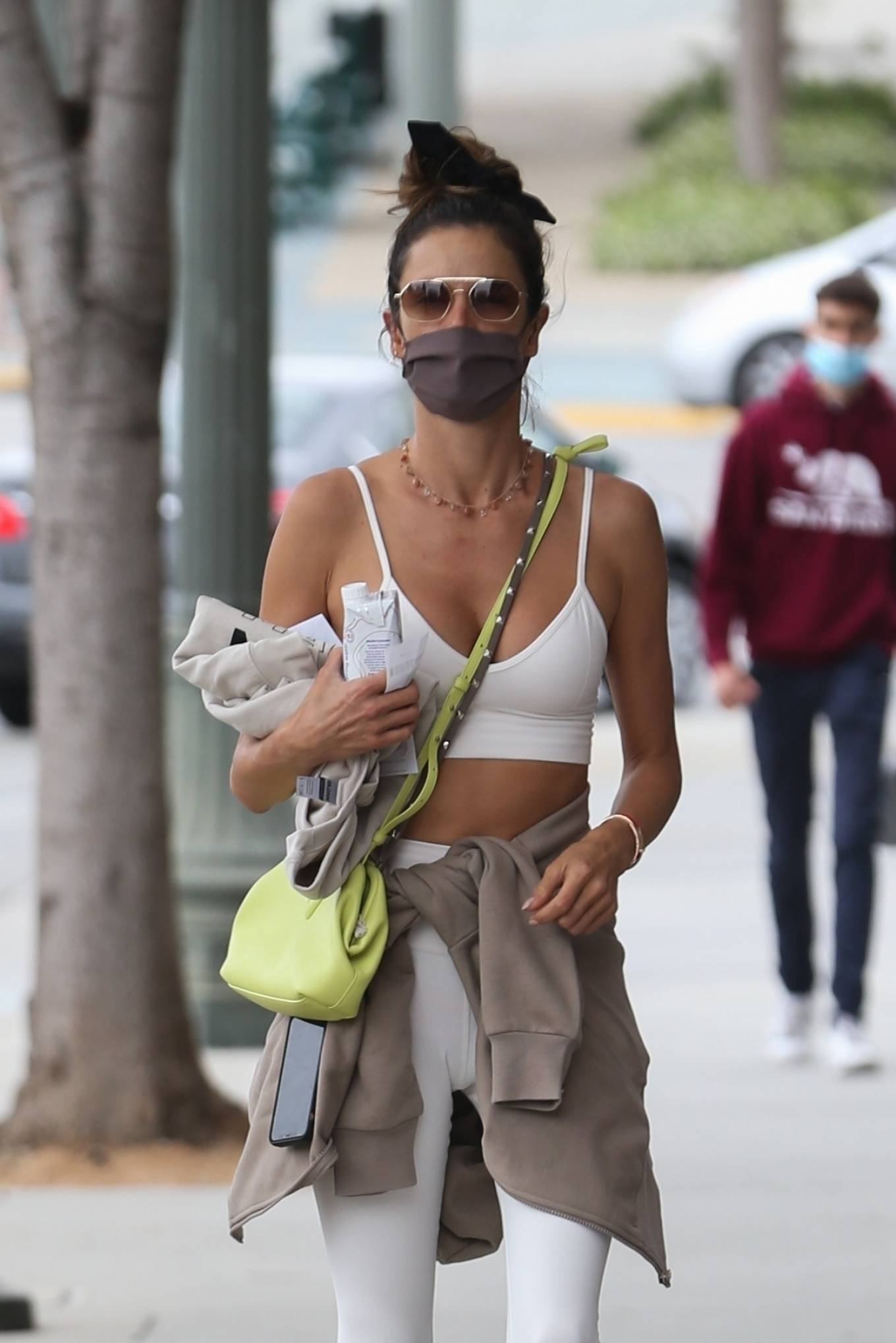 Alessandra Ambrosio 2021 : Alessandra Ambrosio – going to a Pilates class in Santa Monica-10