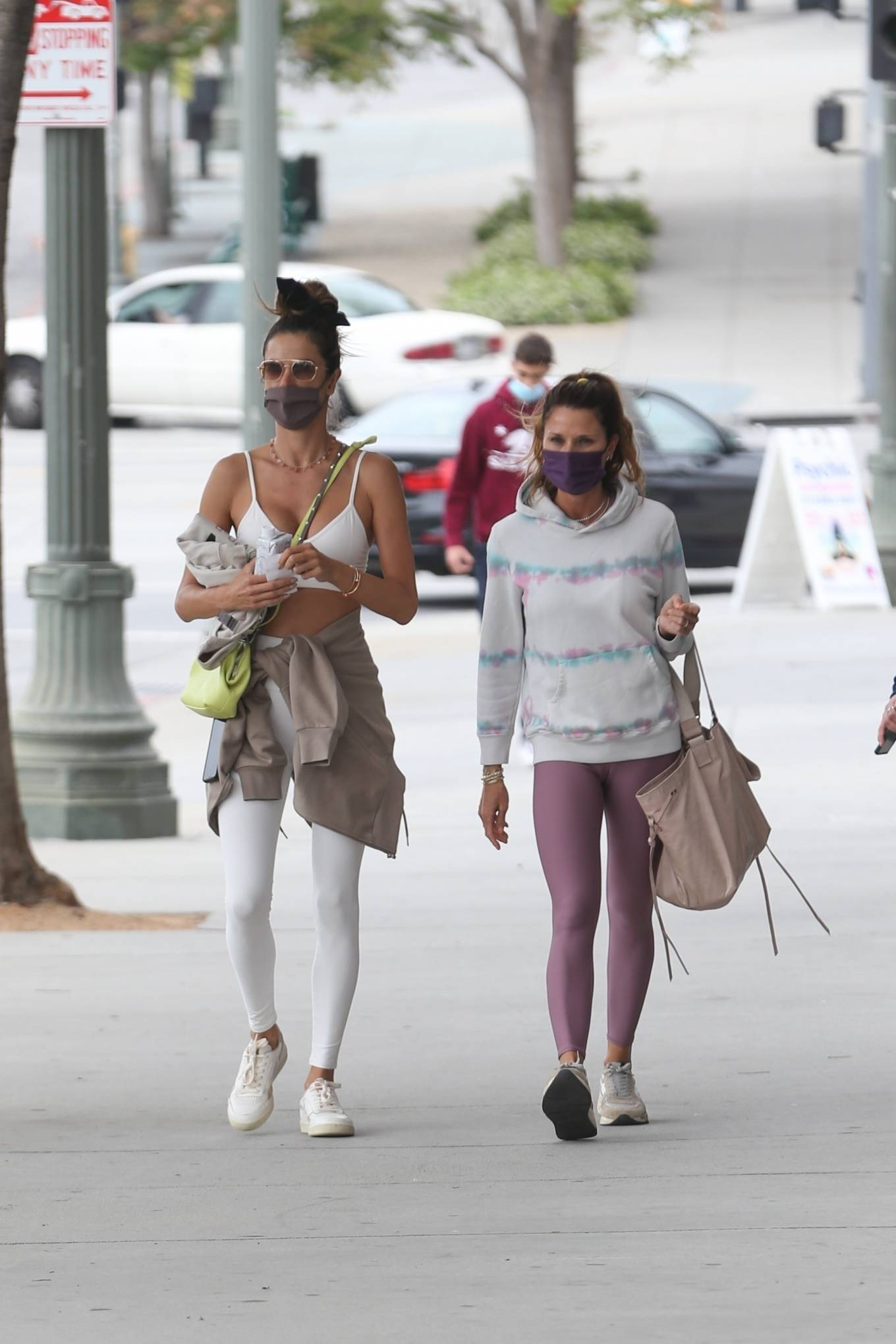 Alessandra Ambrosio 2021 : Alessandra Ambrosio – going to a Pilates class in Santa Monica-12