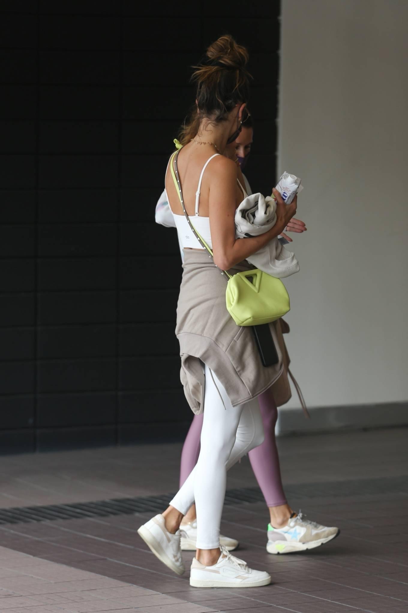 Alessandra Ambrosio 2021 : Alessandra Ambrosio – going to a Pilates class in Santa Monica-13