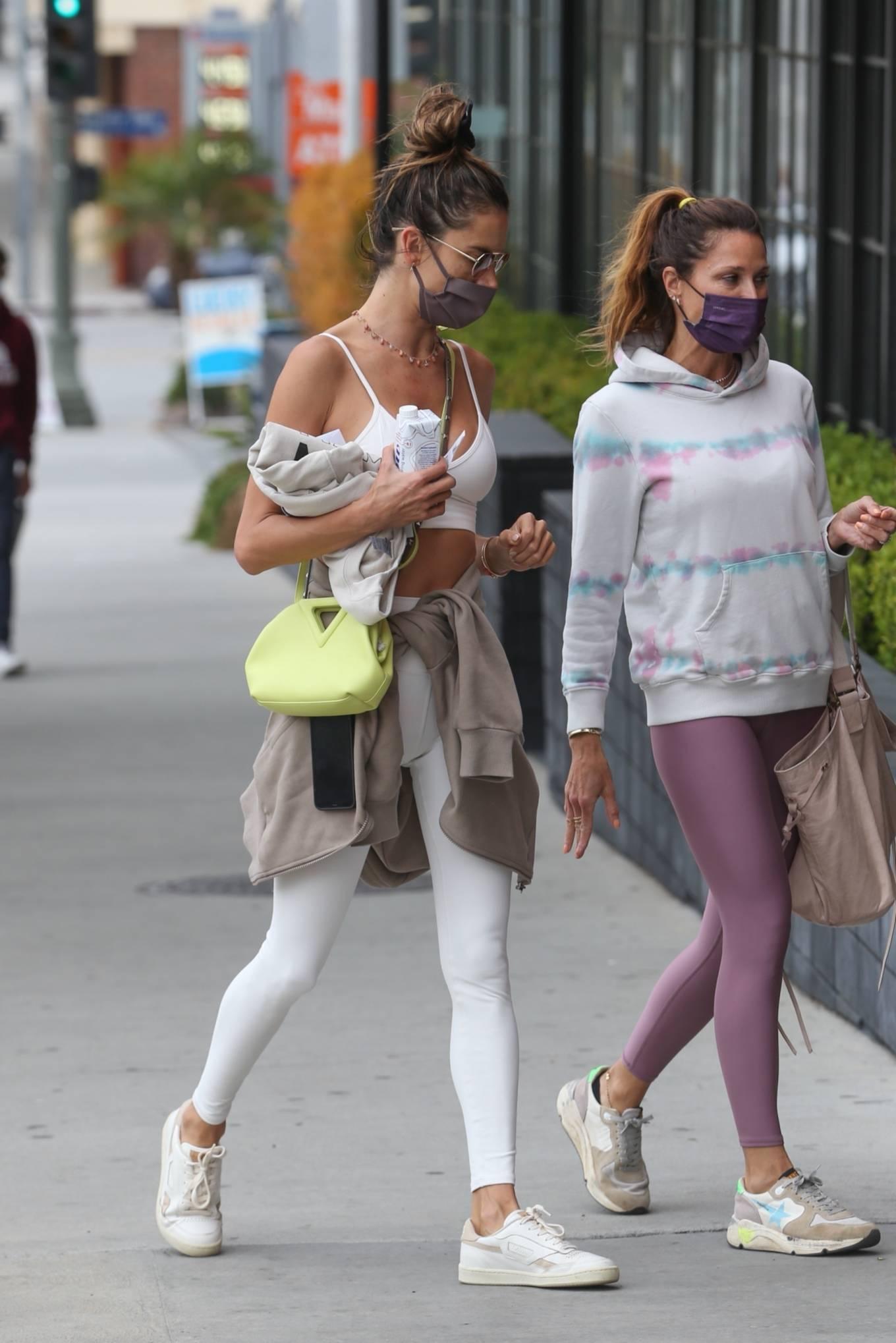 Alessandra Ambrosio 2021 : Alessandra Ambrosio – going to a Pilates class in Santa Monica-15