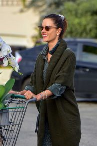 Alessandra Ambrosio - Grocery shopping during 'Stay at home' order in Santa Monica