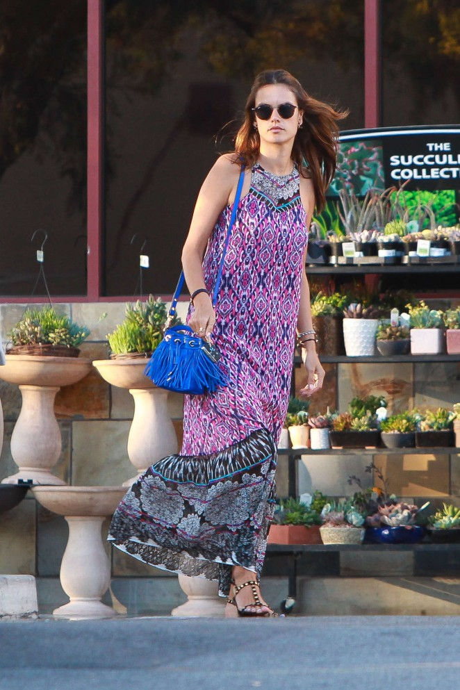 Alessandra Ambrosio - Grocery shopping in Santa Monica