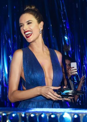 Alessandra Ambrosio hangs at the DJ booth in Sao Paulo