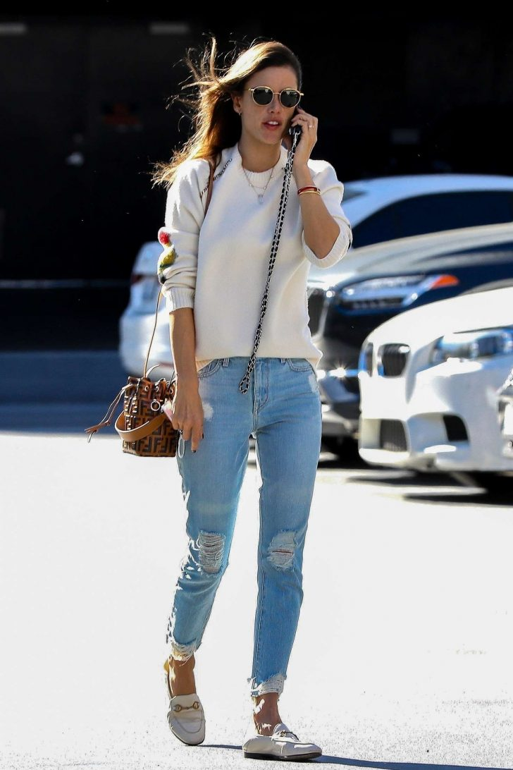 Alessandra Ambrosio - Heads to a business meeting in LA