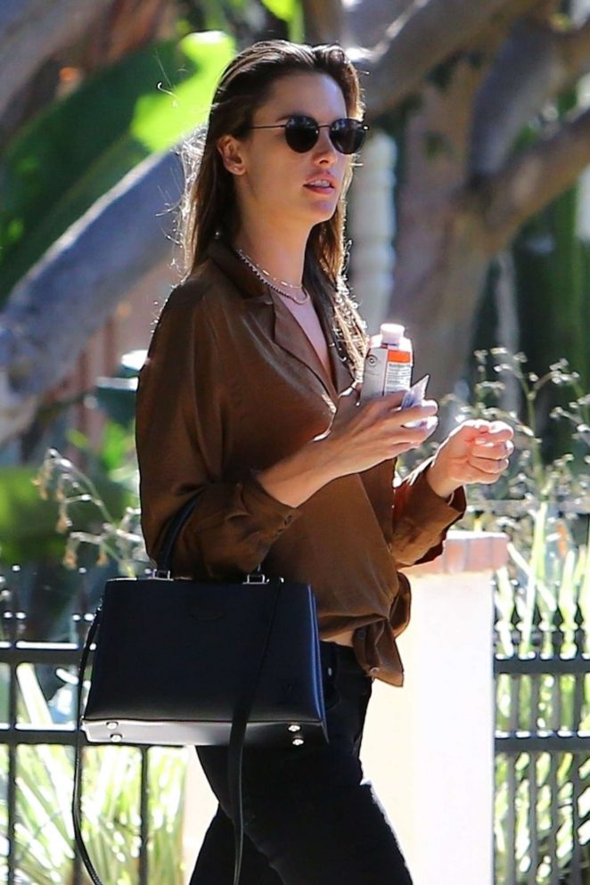 Alessandra Ambrosio - Heads to a meeting at Petit Ermitage in West Hollywood