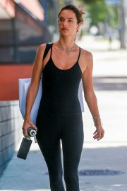 Alessandra Ambrosio - Heads to a pilates class in Santa Monica