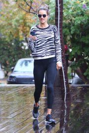 Alessandra Ambrosio - Heads to the gym in LA