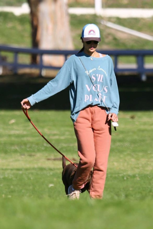 Alessandra Ambrosio - Hike with her cute dog in Los Angeles