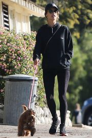 Alessandra Ambrosio - Hiking with her dog in Pacific Palisades
