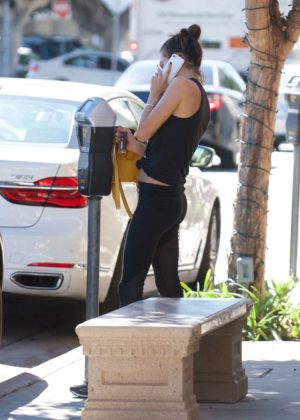 Alessandra Ambrosio - Hits the gym in Brentwood
