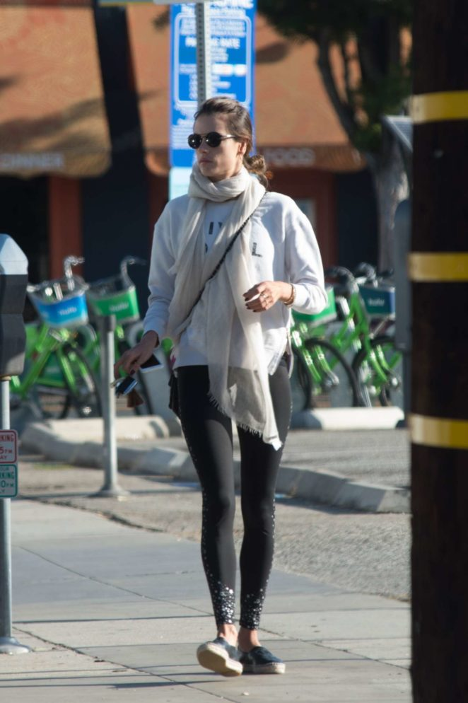 Alessandra Ambrosio - Hits the gym in Los Angeles