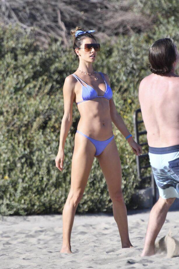 Alessandra Ambrosio - In a bikini during Volleyball practice in Malibu
