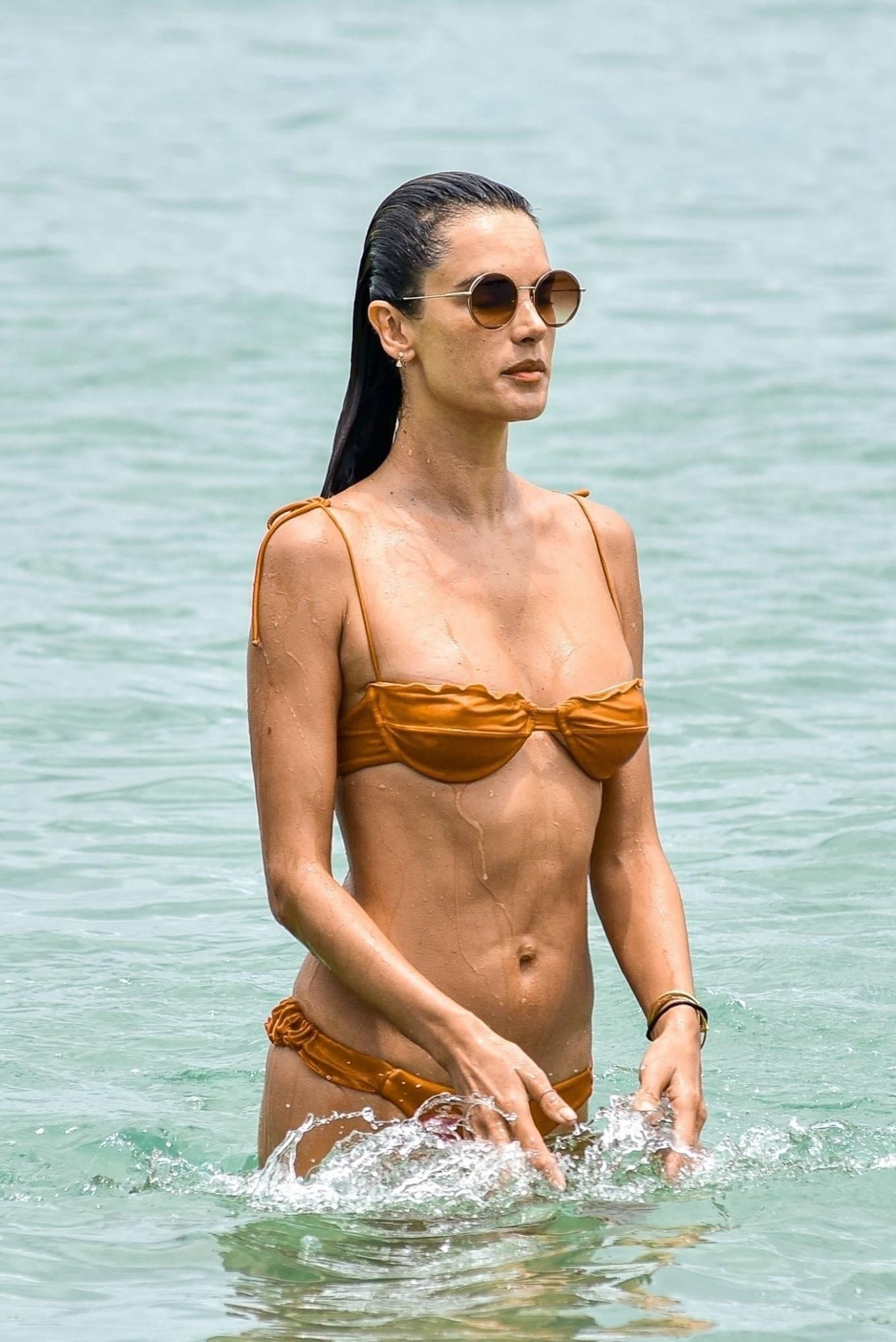 Alessandra Ambrosio - In a bikini enjoying her vacation in Brazil
