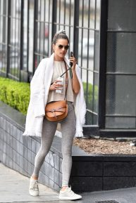 Alessandra Ambrosio - In a gray yoga pants hitting the gym in Brentwood