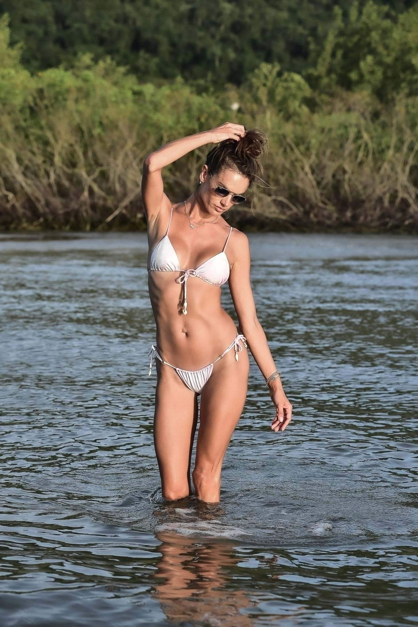 Alessandra Ambrosio - In a two-piece bikini on a photo shoot in Florianopolis
