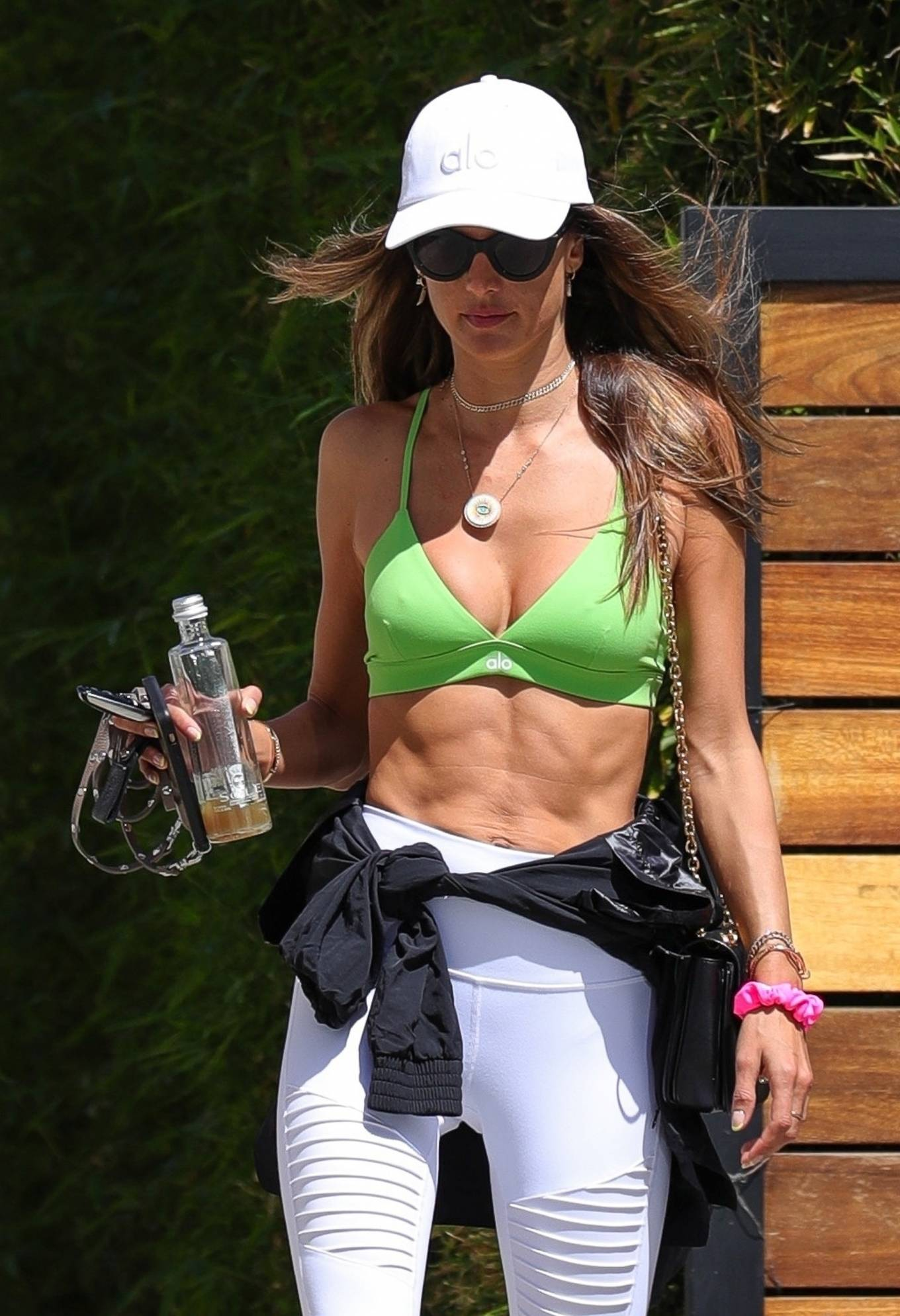 Alessandra Ambrosio - In alo leggings out in Los Angeles