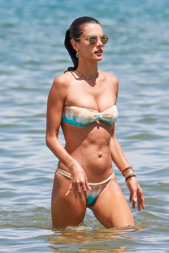 Alessandra Ambrosio in Bikini at the beach in Brazil